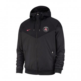Casaco  Nike Paris Saint-Germain Windrunner 2018-2019 Anthracite-Black-Hyper pink