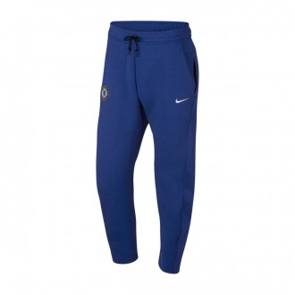Long pants   Nike NSW Chelsea FC Tech Fleece 2018-2019 Rush blue-White