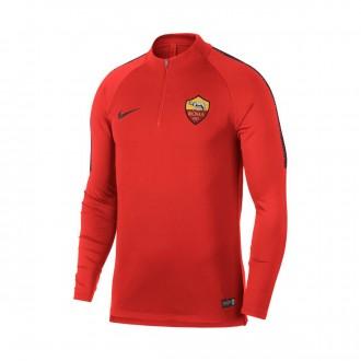 Sweatshirt  Nike Dry AS Roma Squad 2018-2019 Habanero red-Burgundy ash