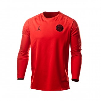 Giacca  Nike Paris Saint-Germain Dry Squad Crew GX CL 2018-2019 University red-Black