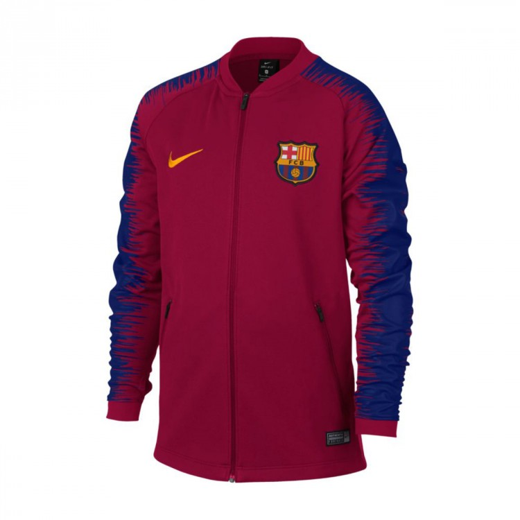 e5d27f283f701 Jacket Nike FC Barcelona 2018-2019 Niño Noble red-University gold ...