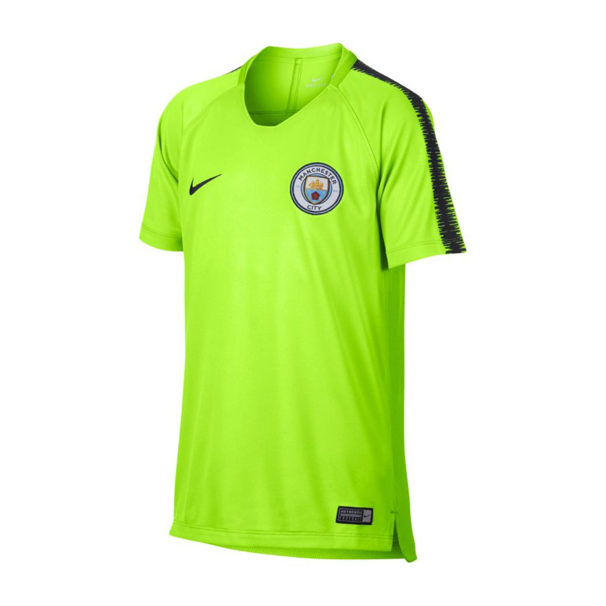 100% authentic 951b2 63482 Camiseta Manchester City FC Squad 2018-2019 Niño Volt-Dark obsidian