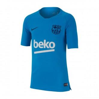 Maillot  Nike FC Barcelona Squad 2018-2019 Niño Equator blue-Coastal blue