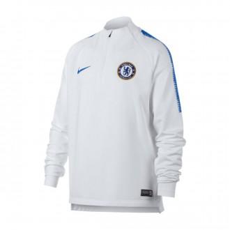 Sweat  Nike Dry Chelsea FC Squad 2018-2019 NIño White-Rush blue