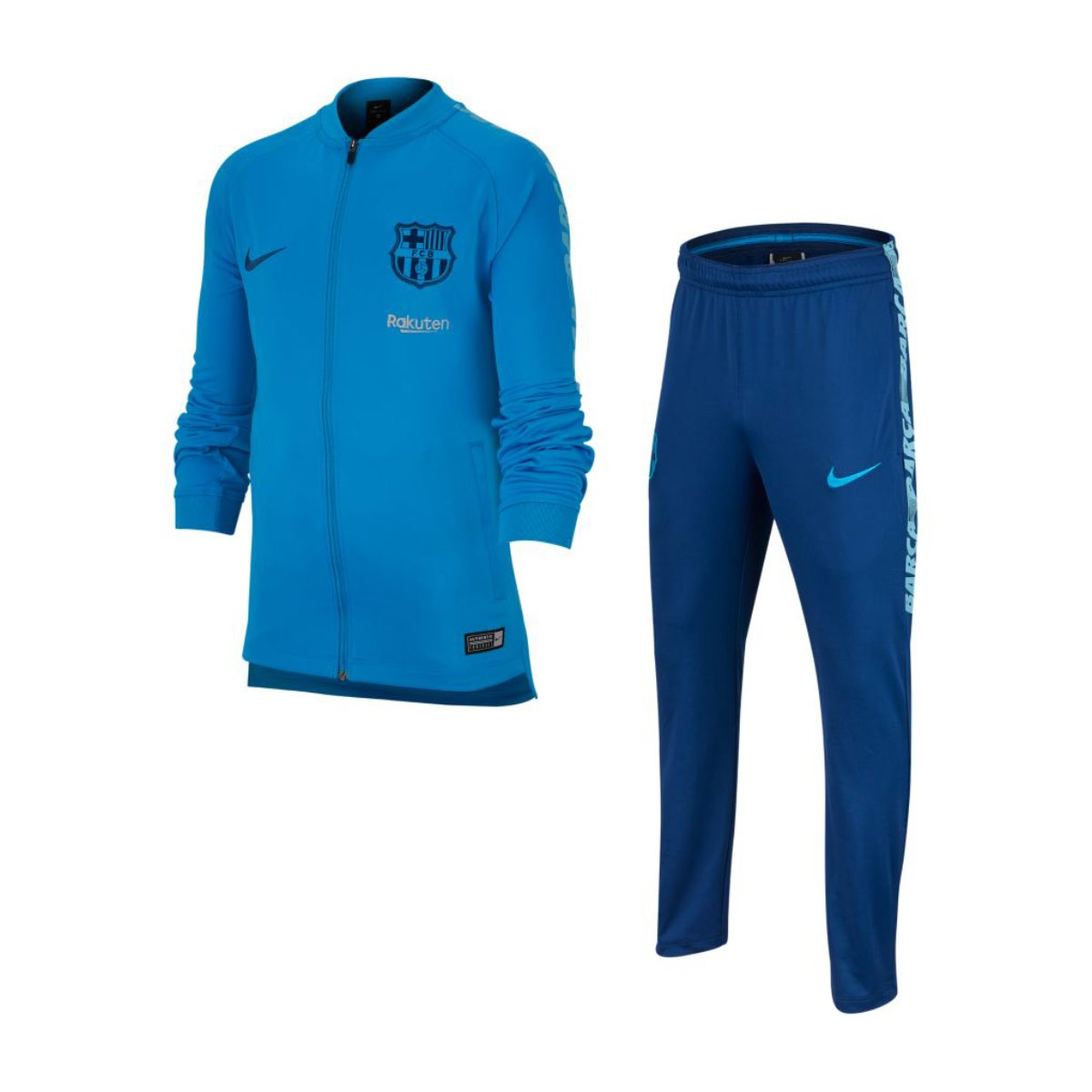 e16a11a3d47c8f Tuta Nike Dry FC Barcellona Squad 2018-2019 Junior Equator blue-Vivil  sky-Coastal blue - Negozio di calcio Fútbol Emotion