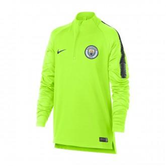 3a96fae62790b Sweatshirt Nike Kids Dry Manchester City FC Squad 2018-2019 Volt-Dark  obsidian