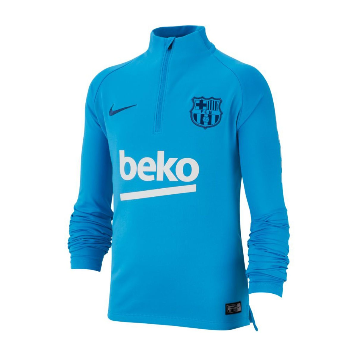 Nike Kids Dry FC Barcelona Squad 2018-2019 Sweatshirt. Equator blue-Coastal  ... 630f04fe6