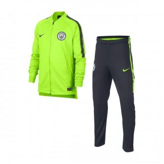 Survêtement  Nike Dry Manchester City FC Squad 2018-2019 enfant Volt-Dark obsidian