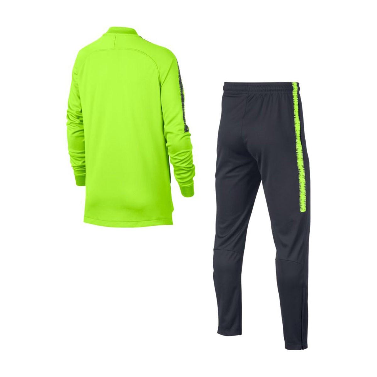e04813443 Tracksuit Nike Kids Dry Manchester City FC Squad 2018-2019 Volt-Dark ...