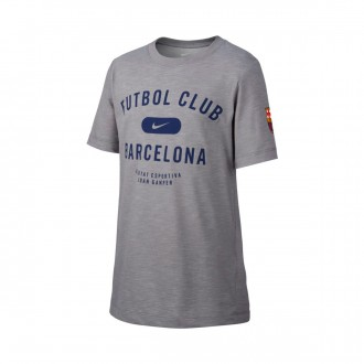Camiseta  Nike FC Barcelona Cry SLUB PRSSN 2018-2019 Niño Dark steel grey