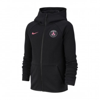 Sweatshirt  Nike Paris Saint-Germain NSW Tech Fleece Essentials 2018-2019 Niño Black-Hyper pink