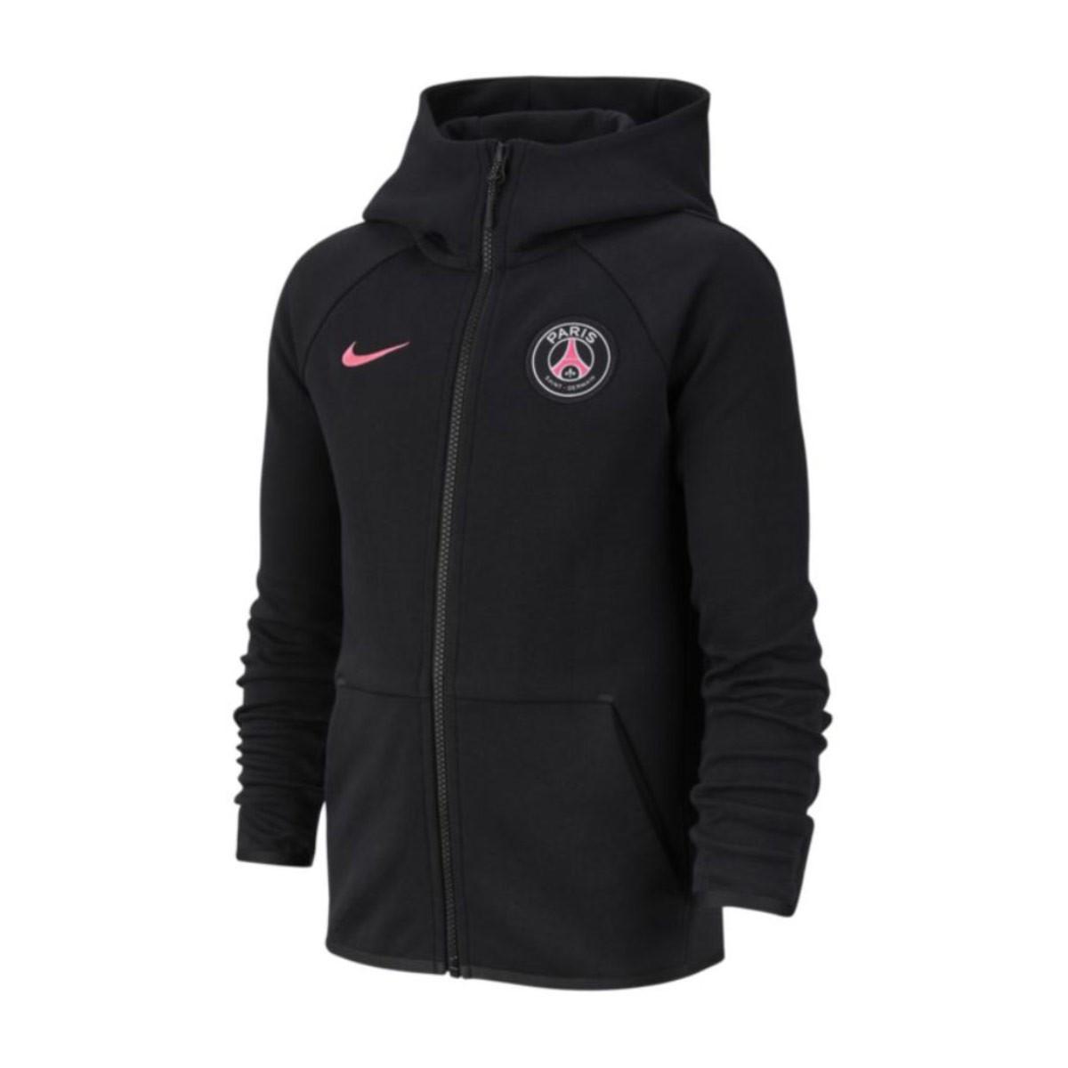 buy popular e90a1 afef9 Sudadera Paris Saint-Germain NSW Tech Fleece Essentials 2018-2019 Niño  Black-Hyper pink