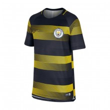 Camiseta Manchester City FC Dry Squad SS GX 2 2018-2019 Niño Optical yellow-Black