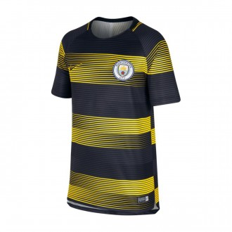 Camisola  Nike Manchester City FC Dry Squad SS GX 2 2018-2019 Niño Optical yellow-Black