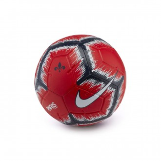 Bola de Futebol  Nike Paris Saint-Germain Strike 2018-2019 Challenge red-Midnight navy-White