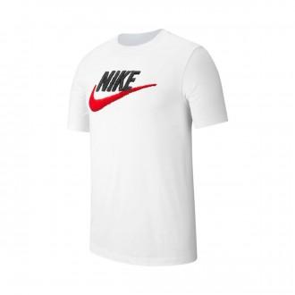 Camiseta  Nike Sportswear 2019 White-Black-University red