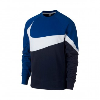 Sudadera  Nike Sportswear 2019 Obsidian-White-Indigo force