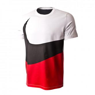 Camiseta  Nike Sportswear Swoosh 2019 White/University red-Black