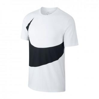 Camiseta  Nike Sportswear Swoosh 2019 White-Black