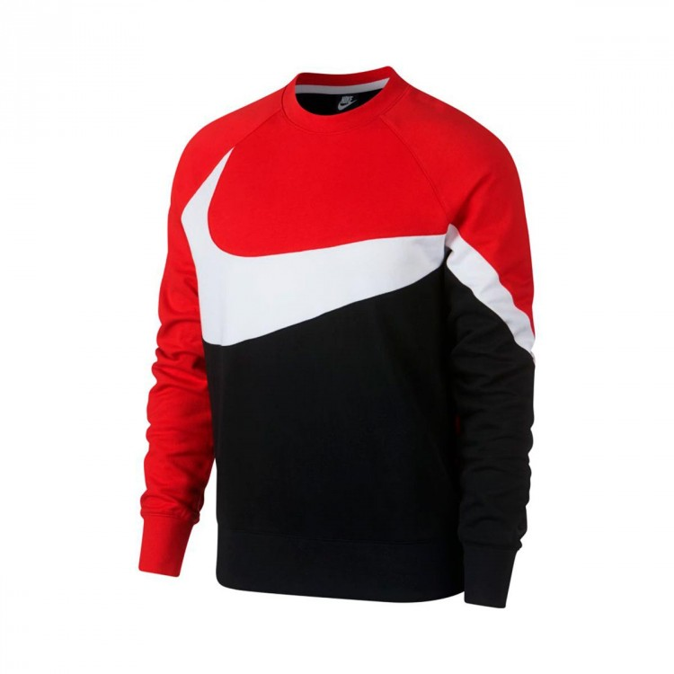 pretty nice classic cozy fresh Sweatshirt Nike Sportswear 2019 Black-White-University red-Black ...