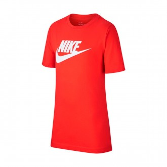Camiseta  Nike Sportswear 2019 Niño Habanero red-White