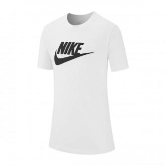 Camiseta  Nike Sportswear 2019 Niño White-Black