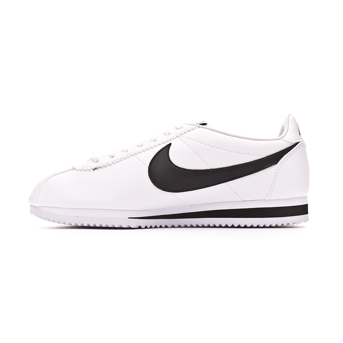 quality design 50041 9ccfe Zapatilla Classic Cortez Leather 2019 White-Black