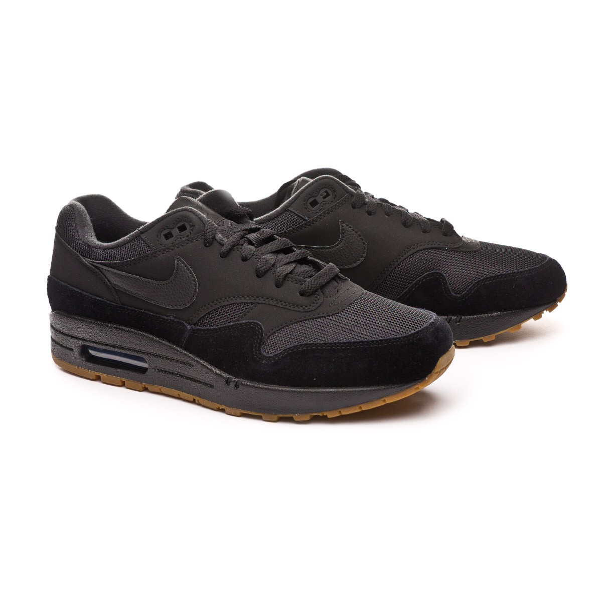 oficial de ventas calientes descuento especial moda mejor valorada Trainers Nike Air Max 1 2019 Black-Gum med brown - Football store ...