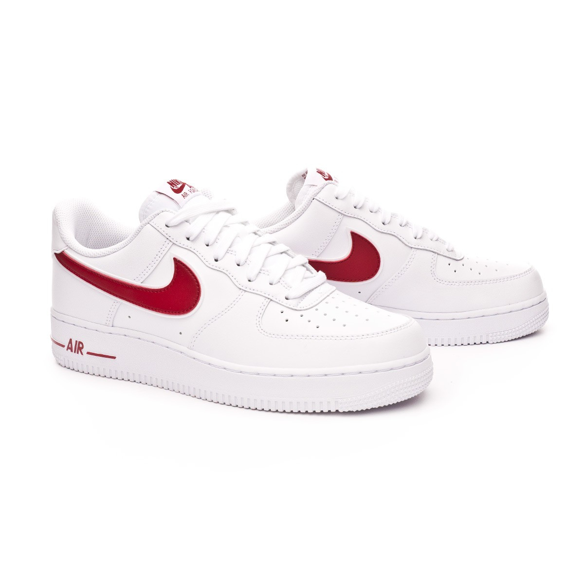 6ad84b5805581 Trainers Nike Air Force 1  07 3 2019 White-Gym red - Football store ...