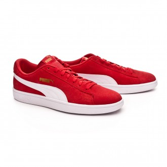 Trainers  Puma Smash v2 High risk red-White-Team gold