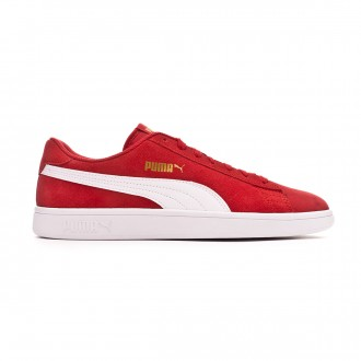 Scarpe Puma Smash v2 High risk red-White-Team gold