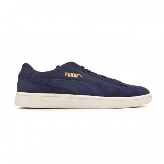 Scarpe Puma Smash v2 Peacoat-Team gold-Whisper white