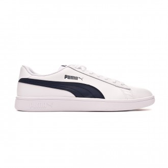 Scarpe Puma Smash v2 L White-Peacoat