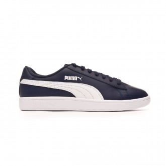 Scarpe Puma Smash v2 L Peacoat-White