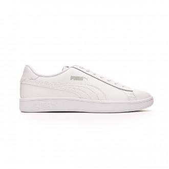 Zapatilla Puma Smash v2 L White-White