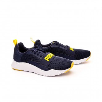 Trainers  Puma Kids Wired  Peacoat-Blazing yellow
