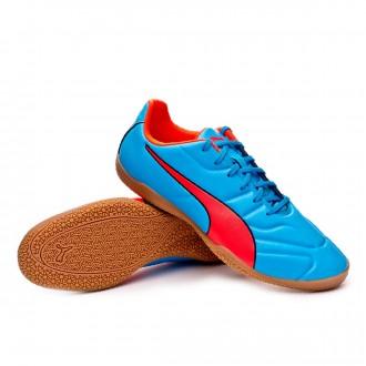 Sapatilha de Futsal  Puma Classico C II Sala Bleu azur-Red blast-Black