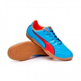 Sapatilha de Futsal  Puma Classico C II Sala Niño Bleu azur-Red blast-Black