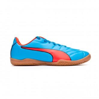 Futsal Boot  Puma Classico C II Sala Niño Bleu azur-Red blast-Black