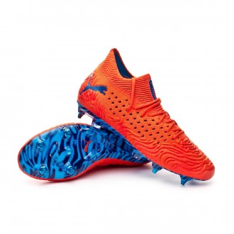 Football Boots  Puma Future 19.1 Netfit Mx SG Red blast-Bleu azur