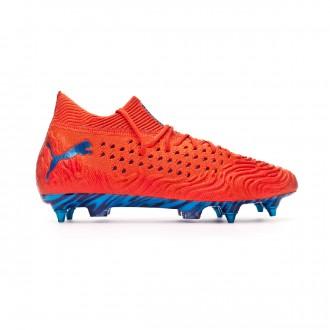 Chaussure de foot  Puma Future 19.1 Netfit Mx SG Red blast-Bleu azur
