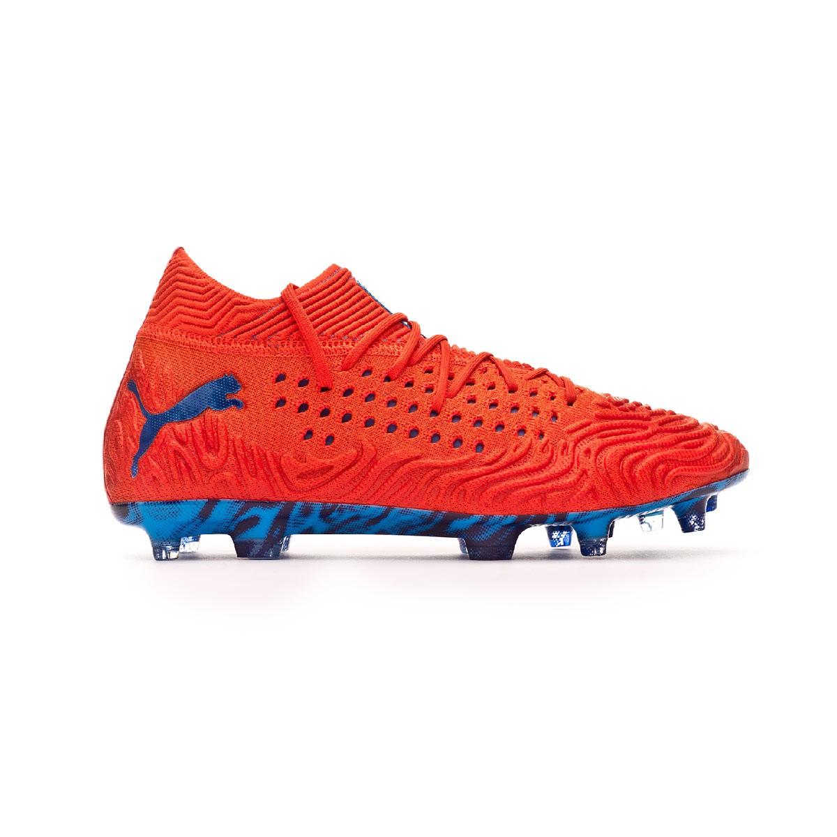 f93c1733a Football Boots Puma Future 19.1 Netfit FG/AG Red blast-Bleu azur - Football  store Fútbol Emotion