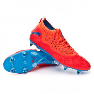 Football Boots  Puma Future 19.2 Netfit Mx SG Red blast-Bleu azur