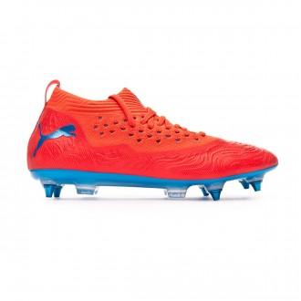 Zapatos de fútbol  Puma Future 19.2 Netfit Mx SG Red blast-Bleu azur