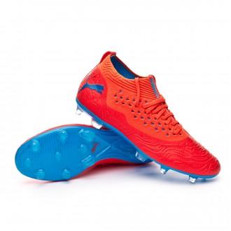 Boot  Puma Future 19.2 Netfit FG/AG Red blast-Bleu azur