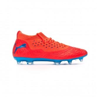 Zapatos de fútbol  Puma Future 19.2 Netfit FG/AG Red blast-Bleu azur