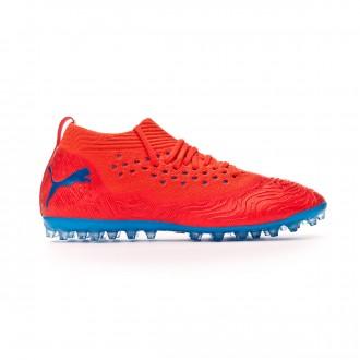 Zapatos de fútbol  Puma Future 19.2 Netfit MG Red blast-Bleu azur