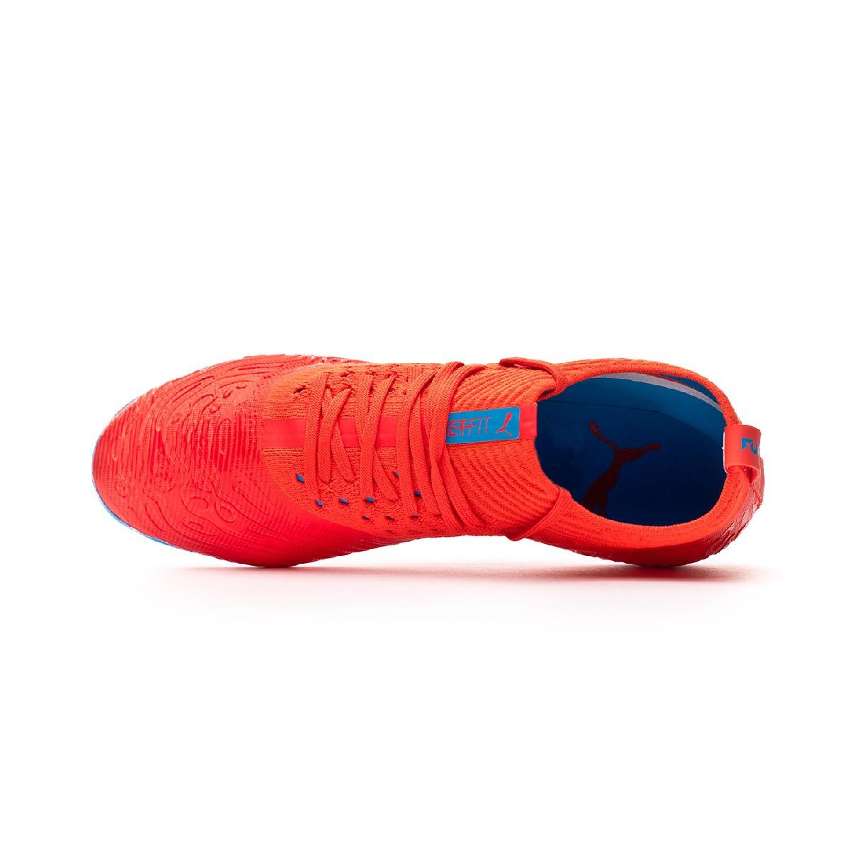 Bota Future 19.2 Netfit MG Red blast Bleu azur