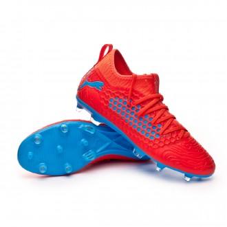 Boot  Puma Future 19.3 Netfit FG/AG Red blast-Bleu azur