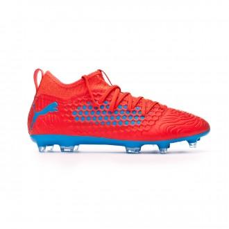 Zapatos de fútbol  Puma Future 19.3 Netfit FG/AG Red blast-Bleu azur